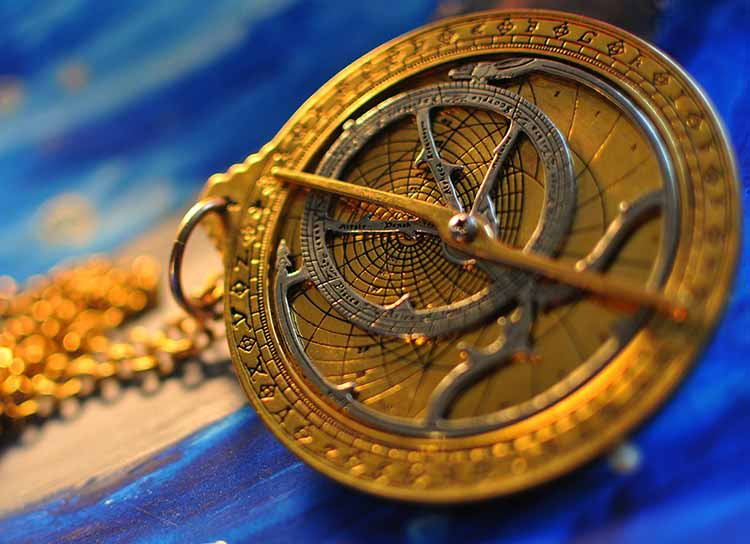 Photograph of a Chaucer Astrolabe