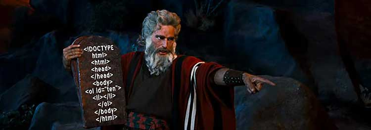Image of Charlton Heston as Moses in the film Ten Commandments, 1956